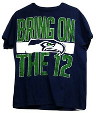 """NFL Team Apparel Seattle Seahawks Men's SZ:M """"Bring on the 12"""" Graphic T-Shirt"""