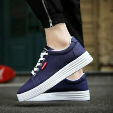 Fashion Mens Lace Up Wedge Hidden Heels Athletic Casual Sneakers Shoes Athletic