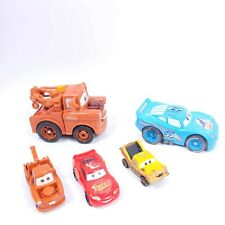 Mixed Lot of 5 Disney Pixar Cars Lighting McQueen Tow Mater Toys Fast Shipping