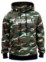 Men's Cardio Day Camo Hoodie Fitness Workout Powerlifting Gym Bodybuilding V177