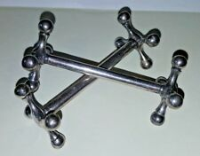 Hallmarked Pair of Knife Rests with Jack Ends