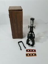 Rare Vintage ATCO Model 1364-A Microscope With Wooden Case