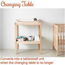 NEW IKEA Baby Newborn Change Table Changing Wooden Shelf Nursery