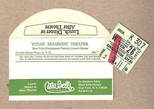"Liv Ullmann ""A DOLL'S HOUSE"" Sam Waterston / Judith Light 1975 Ticket Stub"