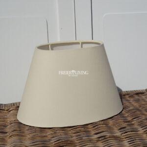 Lampenschirm Creme oval konisch Maison Style shabby chic HOME Tischleuchte