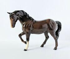 Vintage Royal Doulton Horse Figurine Raised Foreleg Brown