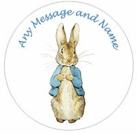 Peter Rabbit Personalised Edible Icing Cake Topper or Ribbon PR1
