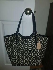 Coach 25522 XL Black White Peyton Dream Tote Handbag