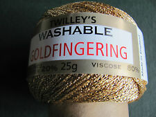 Twilleys Goldfingering 3 Ply sparkly yarn. All colours. Combined postage fee.