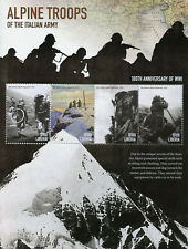 Liberia 2015 MNH WWI WW1 World War I Alpine Troops Italian Army 4v M/S Stamps