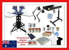 Micro Adjustable 4 Color 4 Station Screen Printing Machine Kit A Postage Vary