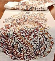Table Runner Embroidery - Hand Printed Fabric - Cynthia Rowley Design