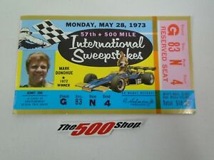 1973 Indianapolis 57th International 500 Mile Sweepstakes Used Race Ticket Stubs
