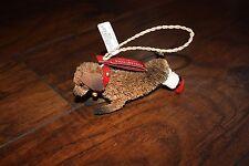 New Pottery Barn Bottle Brush Standing Doxie/Dachshund Dog Ornament Christmas