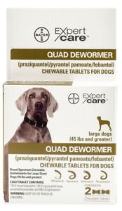 Quad Dewormer for Large Dogs [136 mg] (2 count)