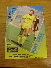 07/10/1989 Port Vale v Leicester City  . Thanks for viewing this item, buy in co