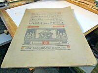 LA SAGRA DEL PENSIERO di R. REALE - XILOGRAFIE A. PARINI - CALTAGIRONE 1925