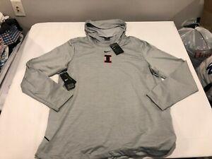 NWT $150.00 Nike Mens Dry Performance Football Hoodie Fighting Illini Size 3XL