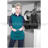 Warrior TA21 Polycotton Tabard Apron with Large Pocket Catering Bar Cleaning New