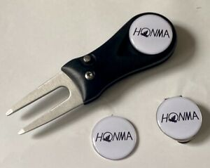 Honma Golf Switchblade Pitchfork Magnetic Hat Clip With 3 Honma Markers