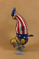 Vintage 1940's J. Chein & Co. Handstand CIRCUS CLOWN Tin Litho Windup USA