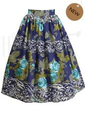 NEW 1950s Style Dirndl Floral Skirt House Of Foxy - 14