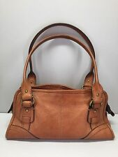 FOSSIL Tan Pebbled Leather Dr. Bag Satchel