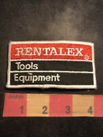 Vtg RENTALEX TOOLS & EQUIPMENT Advertising Patch ( Rental Equipment ?) 00MJ