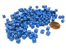 200 Six Sided D6 5mm .197 Inch Die Small Tiny Mini Miniature Blue Dice