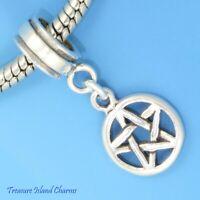 Star Pentagram Pentacle 925 Solid Sterling Silver European Dangle Bead Charm