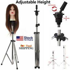Adjustable Wig Head Stand Mannequin Tripod Holder For Hairdressing Training Hot