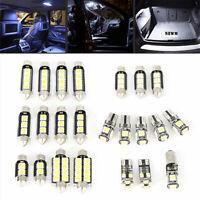 23pc LED White Car Light Bulb Interior Map Dome Trunk License Plate Lamps Kit