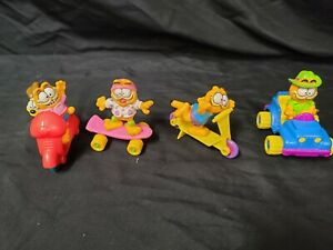 1988-89 McDonald's Garfield Happy Meal Toy Complete Set of 4