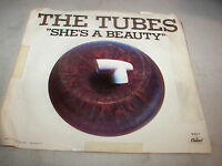 THE TUBES SHE'S A BEAUTY / WHEN YOU'RE READY TO COME 45 EX Capitol B-5217 1983