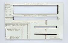 Briefschablone Formatschablone Postschablone Portoschablone 5mm HOLZ Dick STABIL