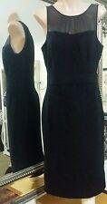Nougat of London Dress.Sz1/S .Wool/Angora blend, silk trim. Winter weight.VGC