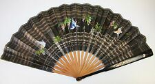 Fan PericÓN. Wood Laquered. Pearl Inlaid. Painted Paper. EspaÑA.Xix