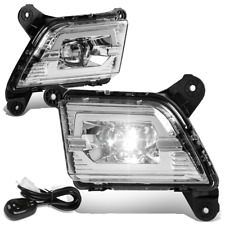 For 2019-2020 Silverado 1500 LED Projector Front Fog Light Lamps w/Switch Clear