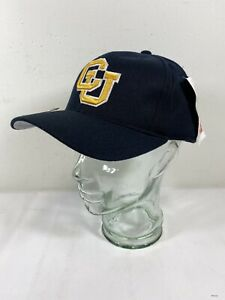 NEW University of Colorado Buffaloes Black Cotton  Cap Hat Fitted 7 1/2 A6