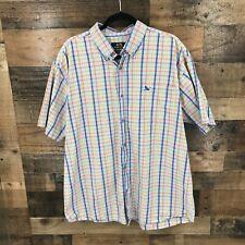 Drunknmunky Men's Multi Color Plaid Short Sleeve 100% Cotton Button Up Shirt