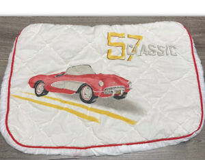Quilted Standard Pillow Case Cover 1957 Corvette Convertible Car Show