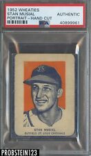 1952 Wheaties Stan Musial Portrait St. Louis Cardinals HOF PSA