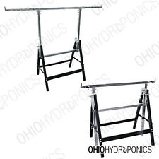 Adjustable Saw Horse Flood Tray Stands, 2 Pack Flood Tray Supports HEAVY DUTY