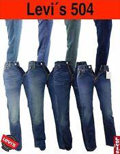 LEVI'S 504 Jeans LEVIS Herren Hose Regular Straight Grösse & Farbe Wählbar Orig.