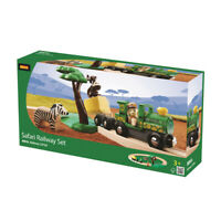 BRIO 33720 Safari Train Railway Set Wooden Railway Sets Age 3 years+