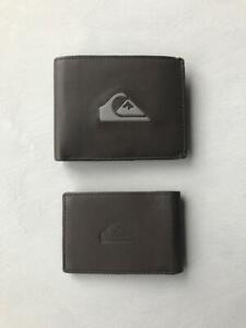 Quiksilver Mens MISS DOLLAR II RFID 2 in 1 LEATHER WALLET New - EQYAA03895 Brown