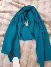 Charterclub Macys de lujo 100% Cachemir SILENCIADOR Bufanda Verde Azulado BNWT