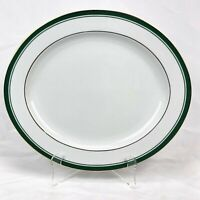 "PHILIP KINGSLEY CLASSICS EMERALD 14"" OVAL SERVING PLATTER FREE SHIPPING"