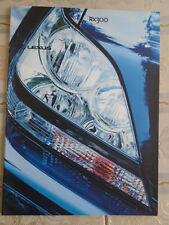 Lexus RX300 brochure May 2001