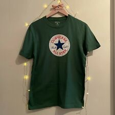 CONVERSE ALL STAR Chuck Taylor - Green T-Shirt - Size XS - in good condition